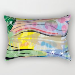 Hippy Fish in Rainbow Glow Rectangular Pillow