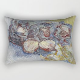 Red Cabbages and Onions Rectangular Pillow