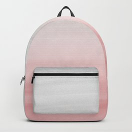 Touching Blush Gray Watercolor Abstract #1 #painting #decor #art #society6 Backpack