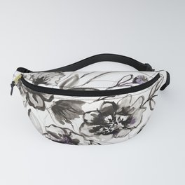 Ink Flowers Fanny Pack