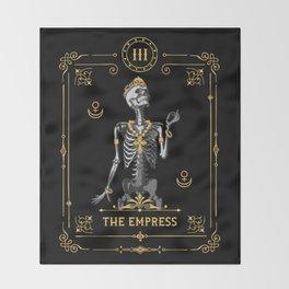 The Empress III Tarot Card Throw Blanket