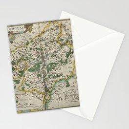 Vintage Map - Ortelius: Theatrum Orbis Terrarum (1606) - Earldom of Namur Stationery Cards