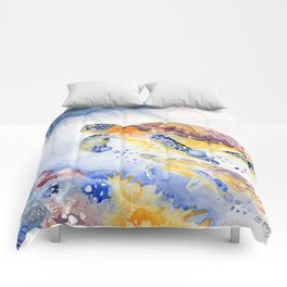 Going Up Sea Turtle Comforters