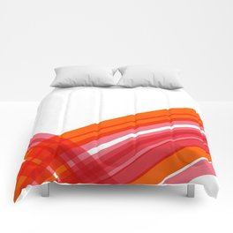 Tangerine Abstract Comforters