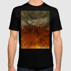 Bird's Eye view Black Mens Fitted Tee MEDIUM