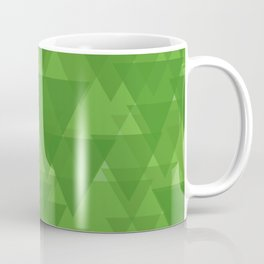 Gentle green triangles in intersection and overlay. Coffee Mug