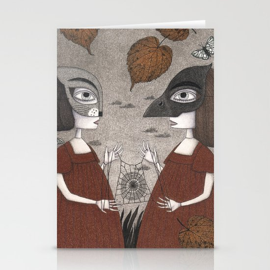 Ana and Eva (An All Hallows' Eve Tale) Stationery Cards