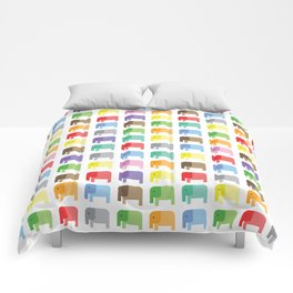 colored elephants pattern Comforters