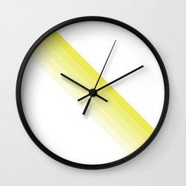 Yellow Strip Shades Wall Clock