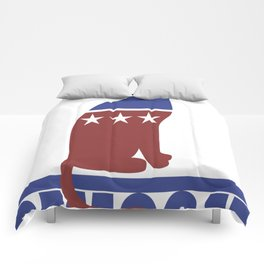 Democat democrat cat Comforters