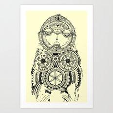 A wise old owl sat on an oak Art Print