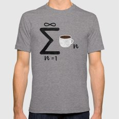 Infinite Coffee LARGE Mens Fitted Tee Tri-Grey