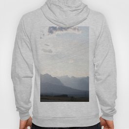 Sunset over the Rocky Mountains Hoody