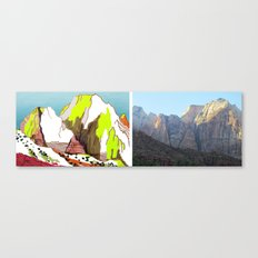 Zion Mountains Canvas Print