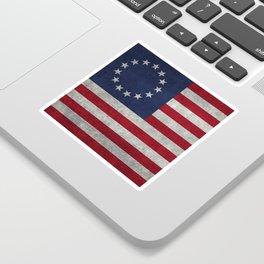 USA Betsy Ross flag - Vintage Retro Style Sticker