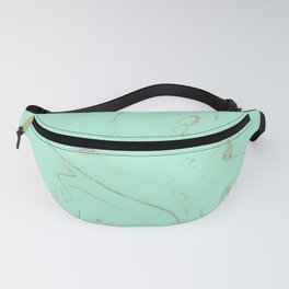 Elegant gold and mint marble image Fanny Pack
