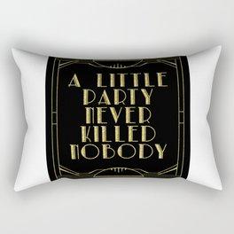 A little party - black glitz Rectangular Pillow