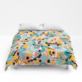 CIRCLES IN MOTION - peach/ yellow/ mint Comforters