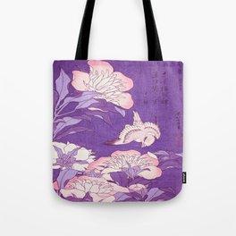 Japanese FLowers Purple Pink Tote Bag