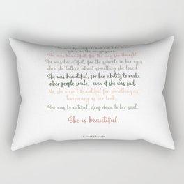She Was Beautiful By F. Scott Fitzgerald 3 #minimalism #poem Rectangular Pillow