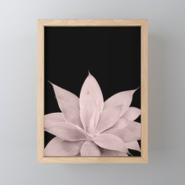 Blush Agave on Black #1 #tropical #decor #art #society6 Framed Mini Art Print