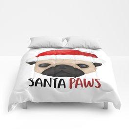 Christmas Pug   Santa Paws Comforters