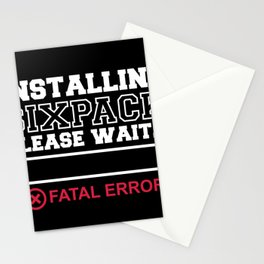 Installing Sixpack ERROR Washboard abs Stationery Cards