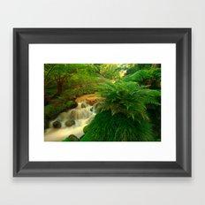 Stream in the forest Framed Art Print