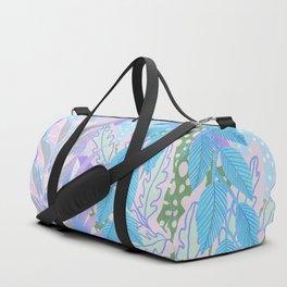 Modern Jungle Plants - Blue, Purple Duffle Bag