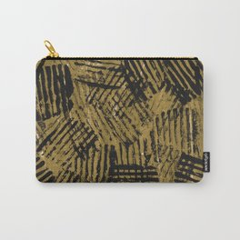 Black golden abstract painting Carry-All Pouch