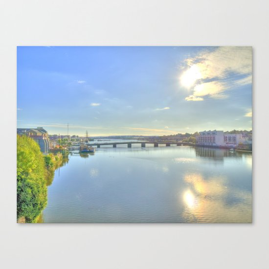 View of New Ross Bridge, Co. Wexford Canvas Print