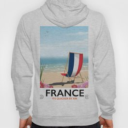 France seaside poster Hoody