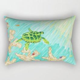 Two worlds Rectangular Pillow