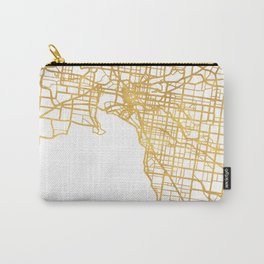 MELBOURNE AUSTRALIA CITY STREET MAP ART Carry-All Pouch