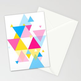 Geometric Composition 01 • Pansexual Flag Stationery Cards