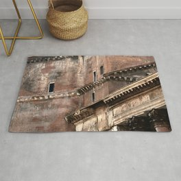 Pantheon of Rome Side View Rug