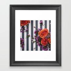 Botanical Stripes  Framed Art Print