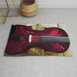 The Red Violin, A Portrait by Jeanpaul Ferro Rug