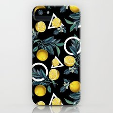 Geometric and Lemon pattern II iPhone SE Slim Case