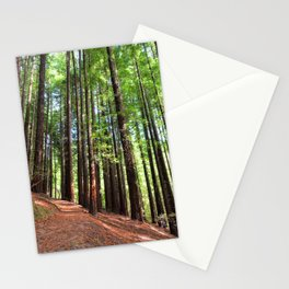 Sequoias in Cabezon de la Sal, Spain. Stationery Cards