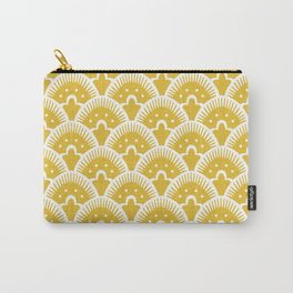 Fan Pattern Mustard Yellow 201 Carry-All Pouch