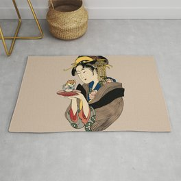 Tea Time with Shiba Inu Rug