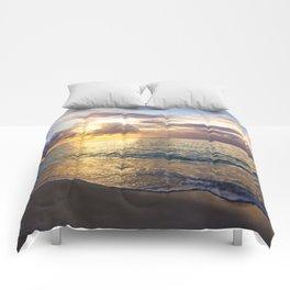 Bubble Sunset Cayman Islands Comforters