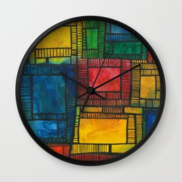 Primary Patchwork Wall Clock