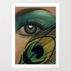 Through The Eye Of A Peacock Art Print
