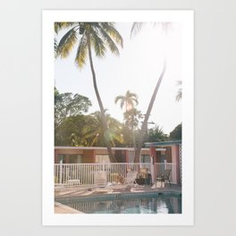 Motel Pool and Sun Art Print