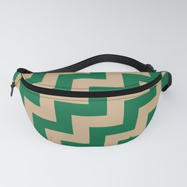 Tan Brown and Cadmium Green Steps RTL Fanny Pack