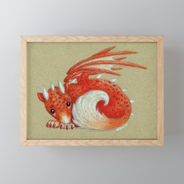 Baby Red Dragon Framed Mini Art Print