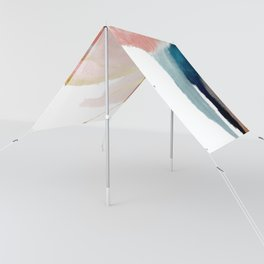Exhale: a pretty, minimal, acrylic piece in pinks, blues, and gold Sun Shade