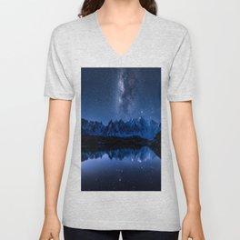 Night mountains Unisex V-Neck